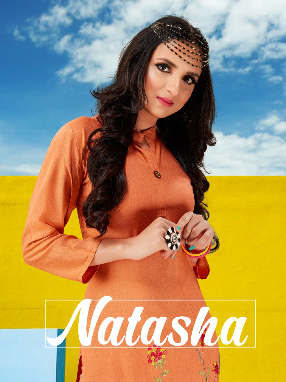 Neha Fashion Natasha Rayon Formal Wear Kurti Wholesaler
