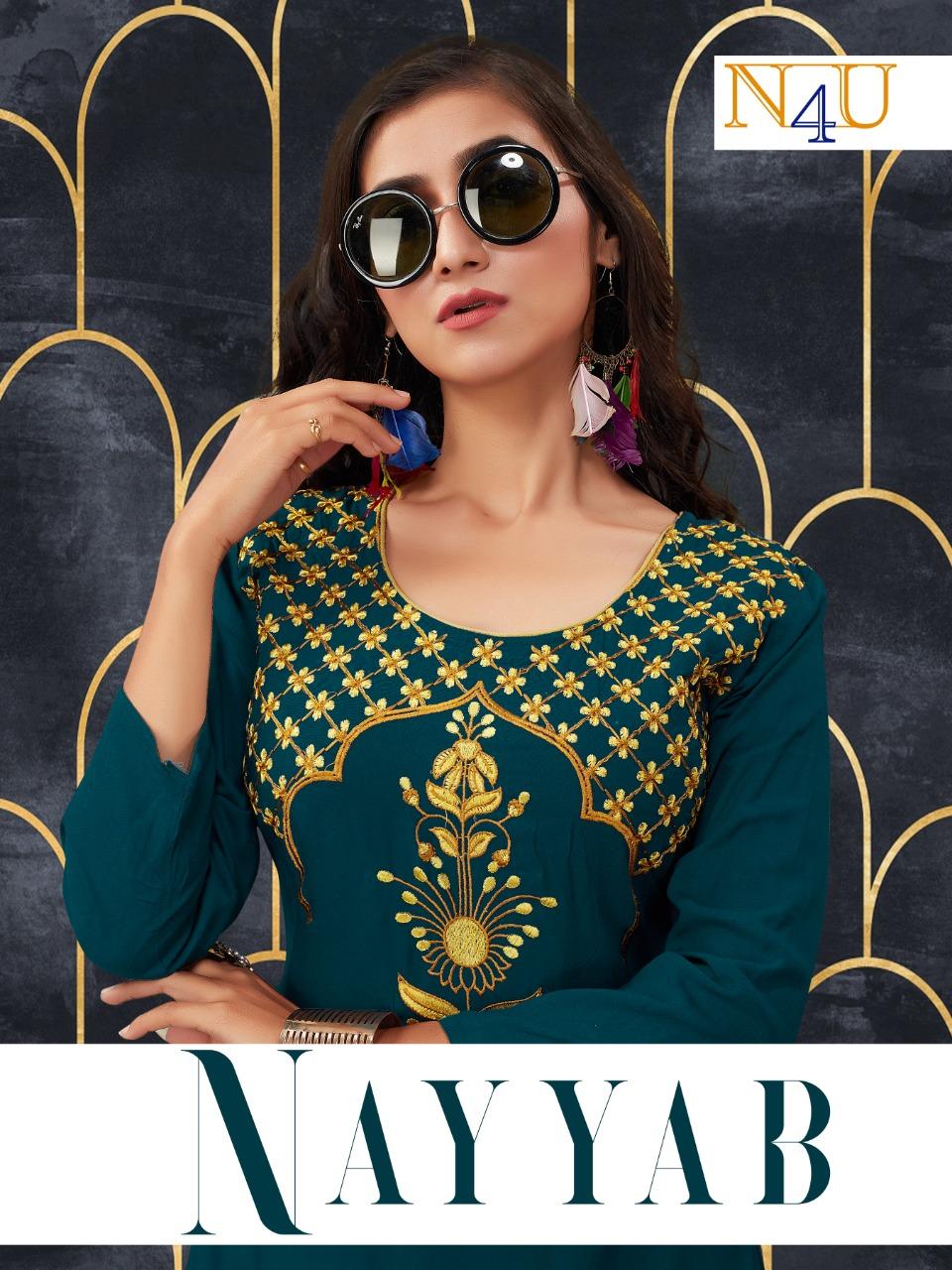 Neha Fashion Nayyab Rayon Embroidery Short Long Kurti Seller
