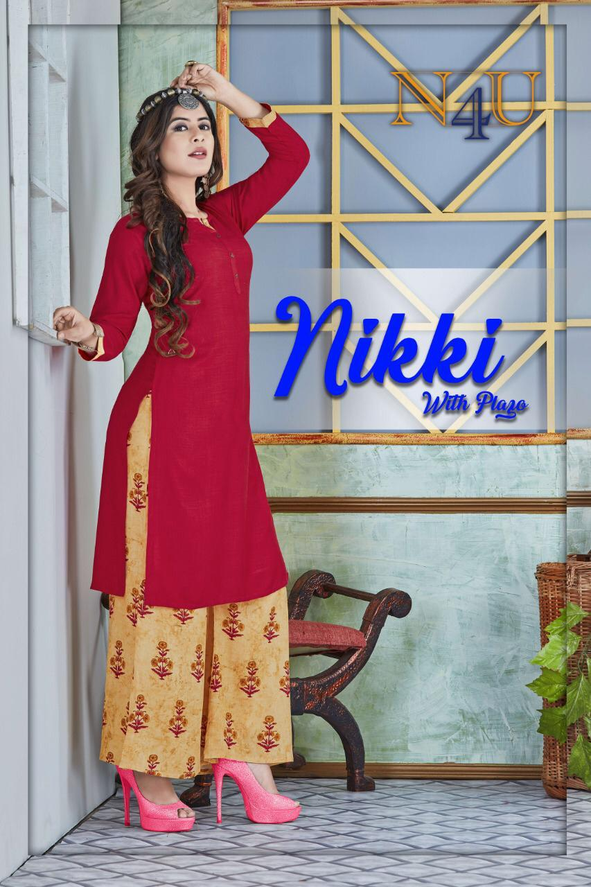 Neha Fashion Nikki Plazo Rayon Exclusive Kurti With Plazzo Collection
