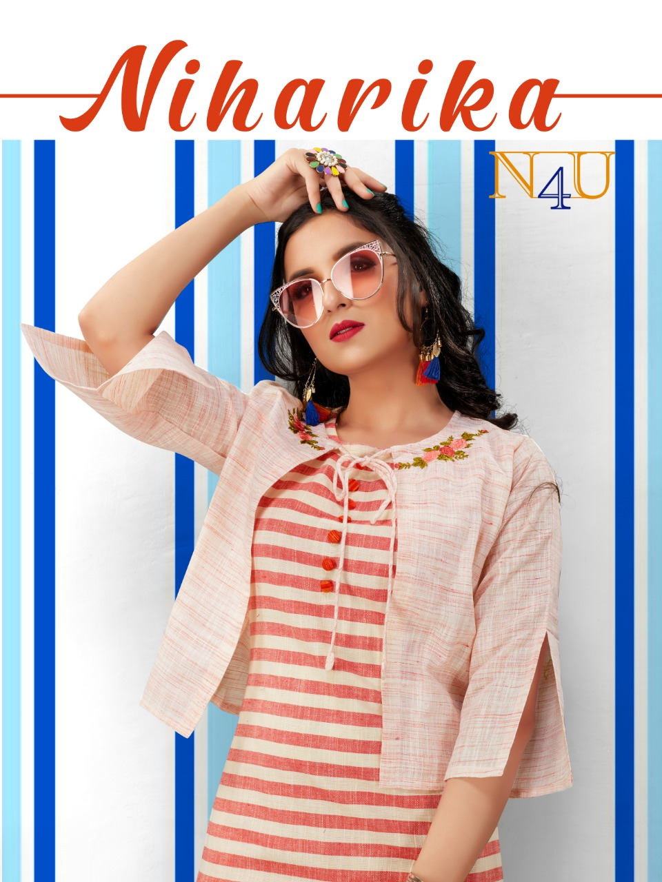 Niharika By Neha Fashion Rayon Cotton Top Bottom With Jacket Concept