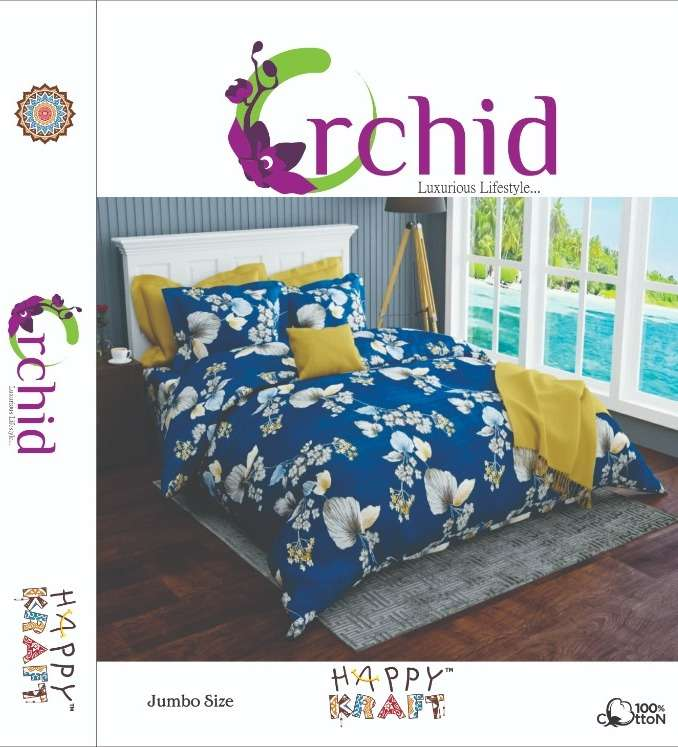 orchid twilight book packing glaze cotton 1 bedsheets with 2 pillow cower exporter