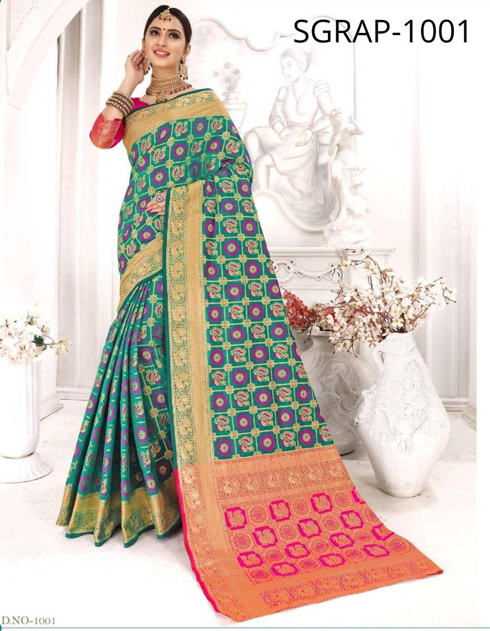 Rajkoti Patola By Sangam Patola Silk Festival Wear Saree Wholesaler