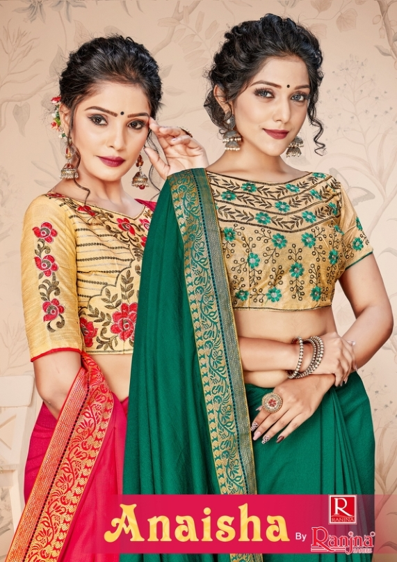 Ranjna Saree Presenting Anaisha Vichitra Silk Saree At Lowest Rate In India