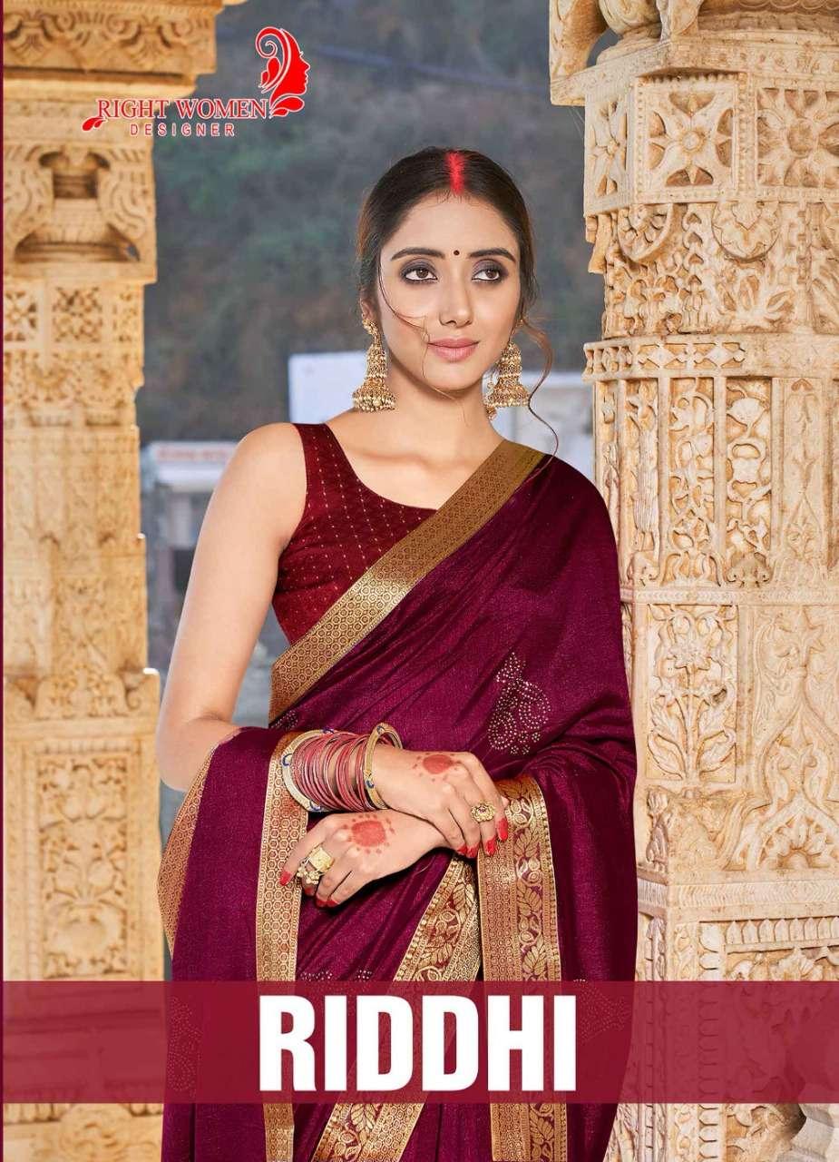 right women riddhi vichitra silk casual wear fancy sarees