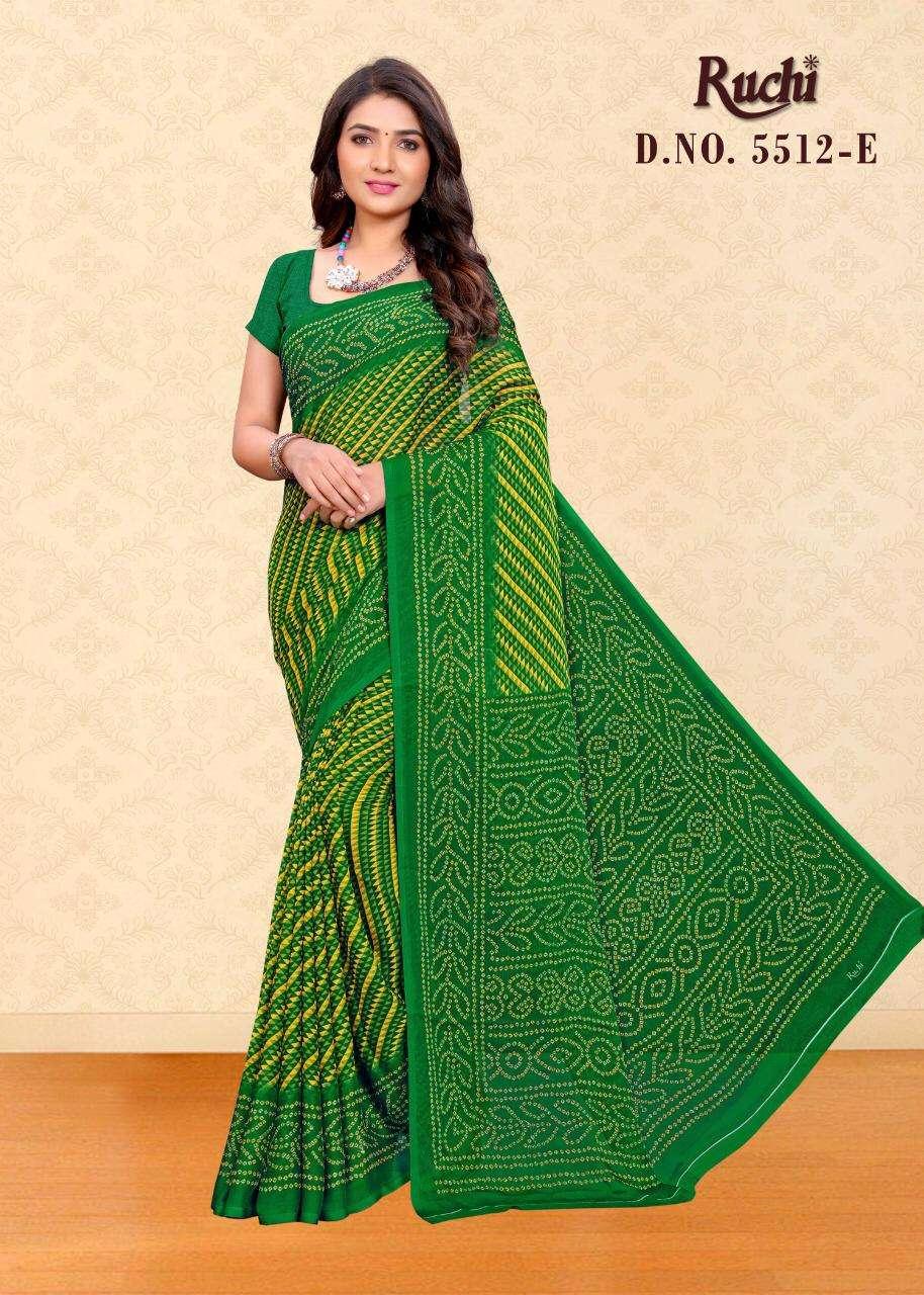 ruchi 5512 chiffon printed casual wear fancy saree
