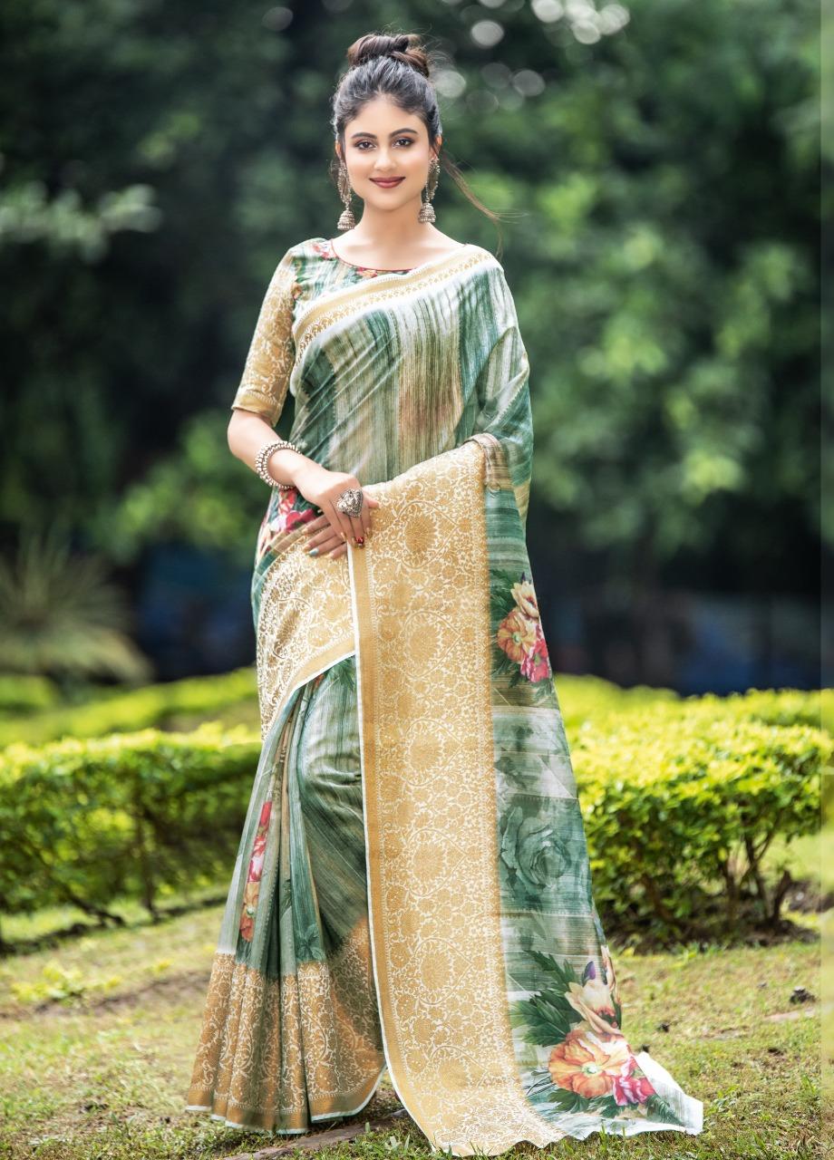 Sangam Flemingo Cotton Traditional Wear Saree Collection