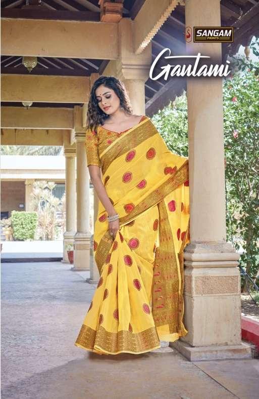 sangam prints gautami handloom cotton designer saris wholesaler