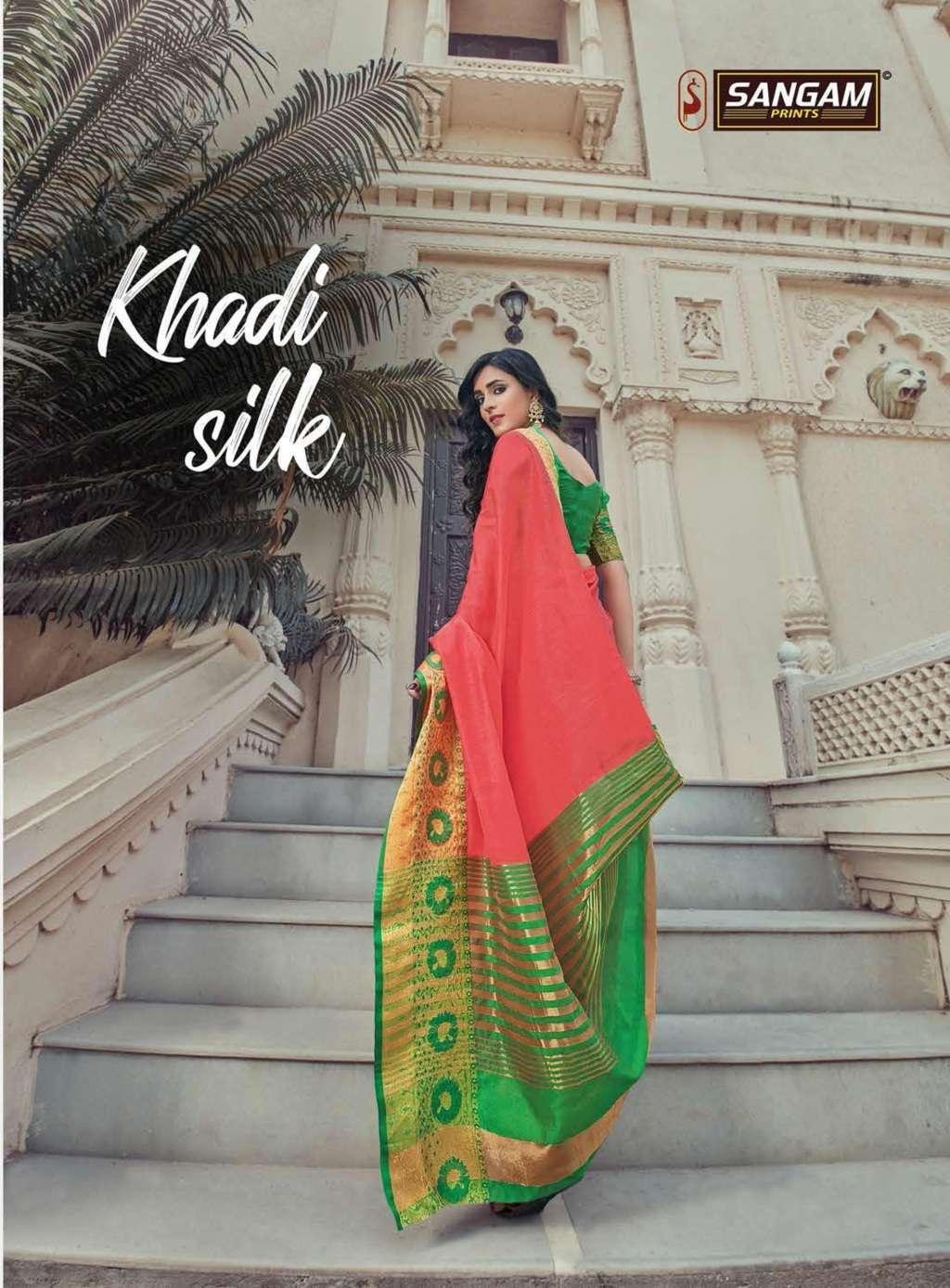 sangam prints kadi silk vol-7 cotton handloom saris wholesaler