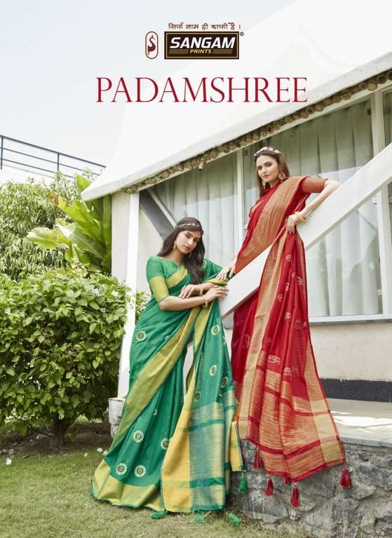 sangam prints padamshree embroidery handloom silk saris wholesaler