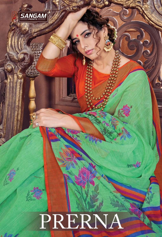 sangam prints prerna cotton printed saris wholesaler