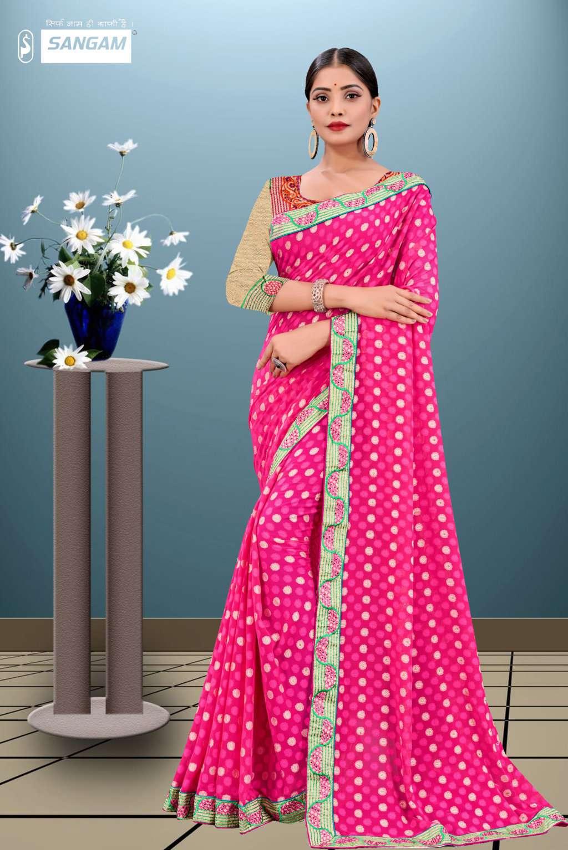 sangam prints sangam vol-11 fancy georgette saris wholesaler