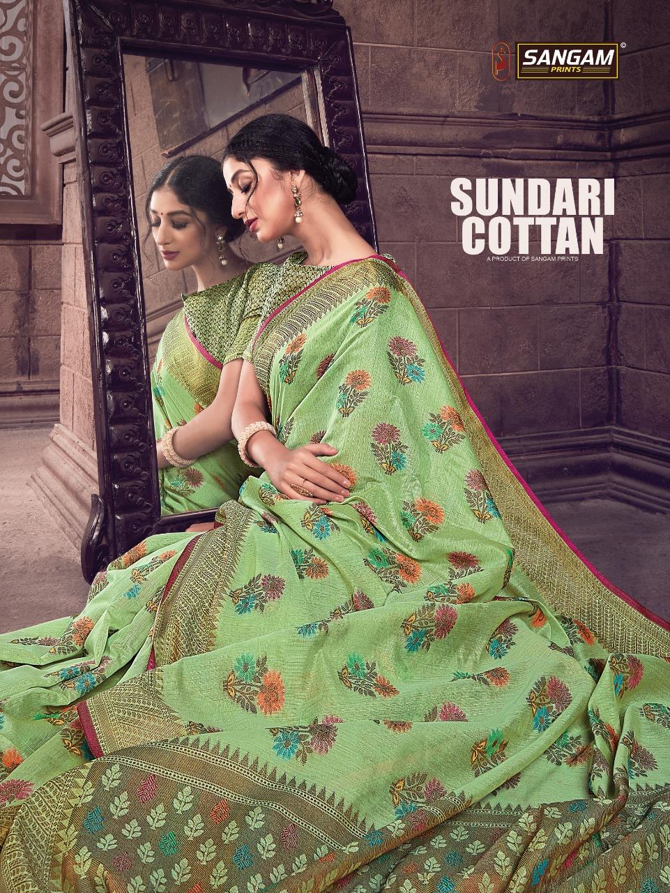 Sangam Prints Sundari Cotton Handloom Silk Exclusive Collections For Saree