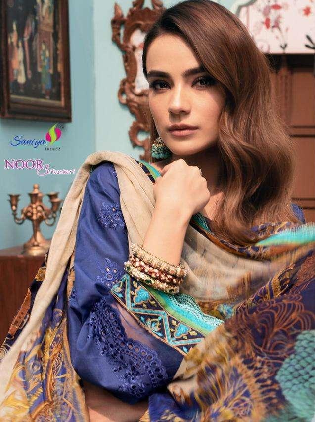 saniya noor chikankari designer cotton pakistani dress materials