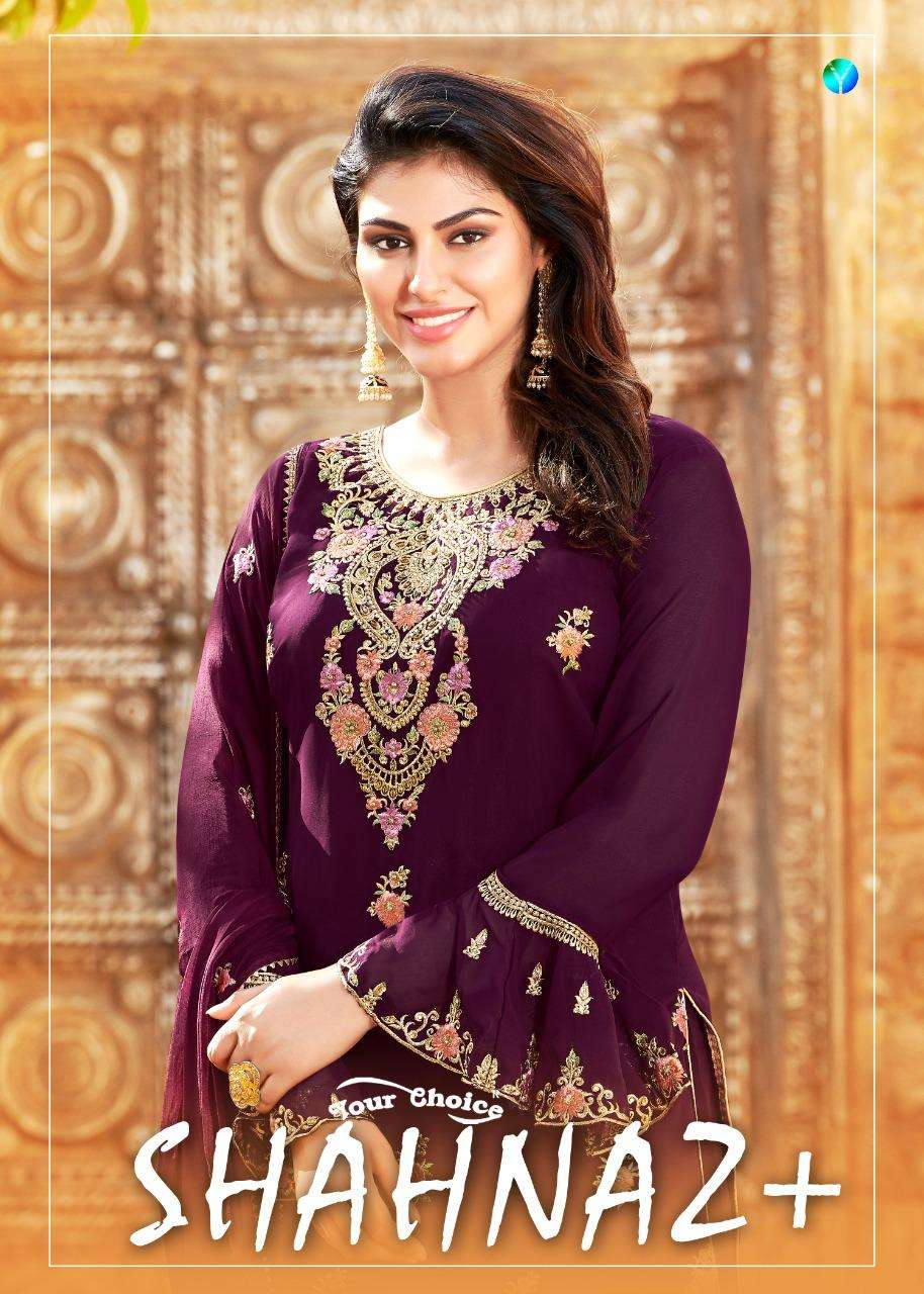 shahnaz plus by your choice georgette heavy embroidery pakistani suits