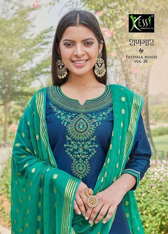 shangar by patiala house vol 20 by kessi jam silk embroidery salwar kameez