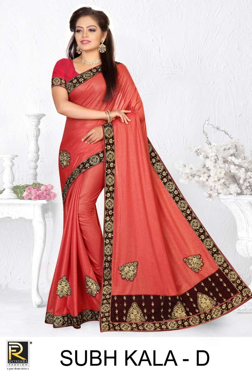 Subh kala by ranjna saree embroidery warked heavy diamond work saree Collection
