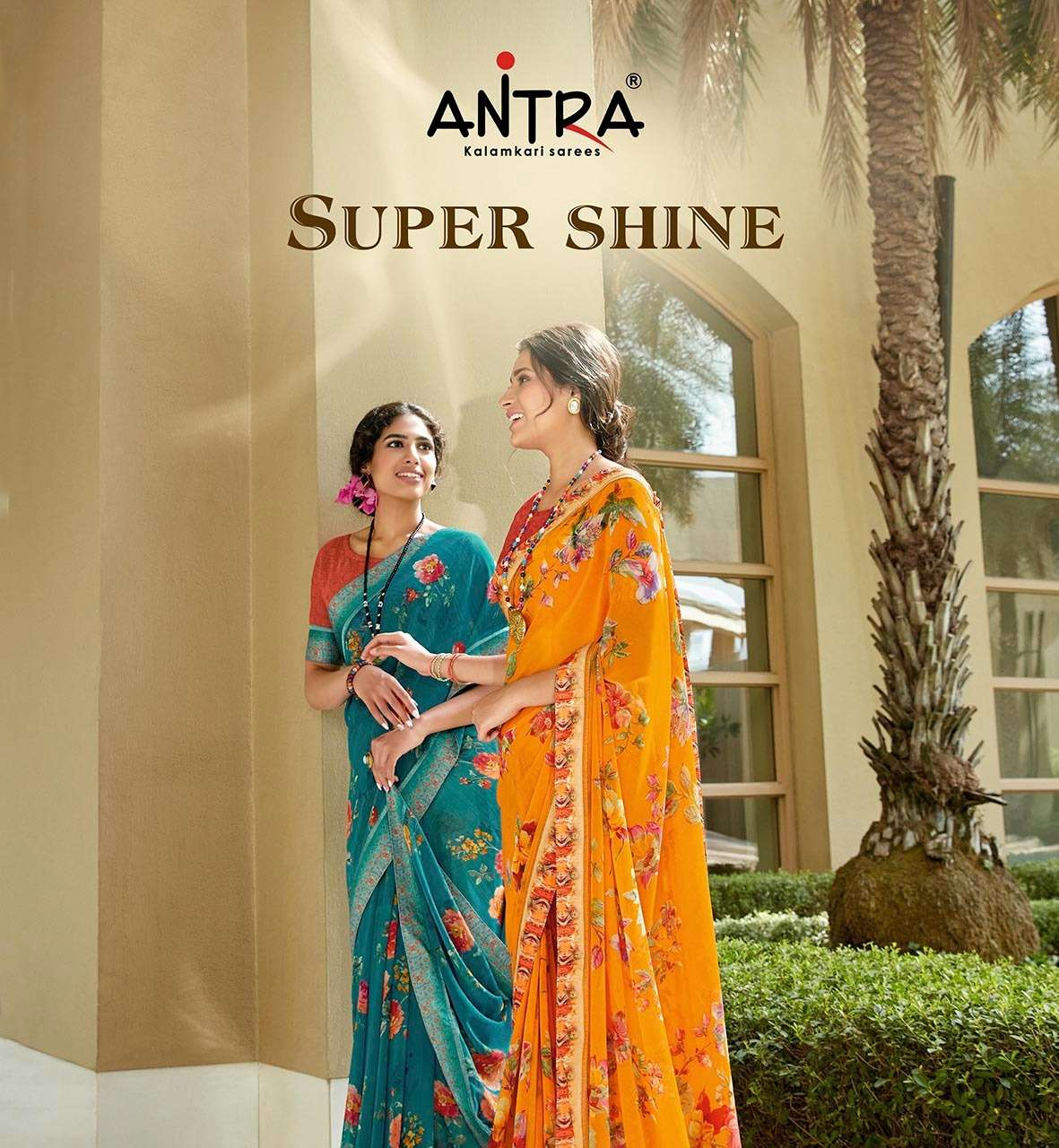 super shine by antra weightless printed daily wear saree