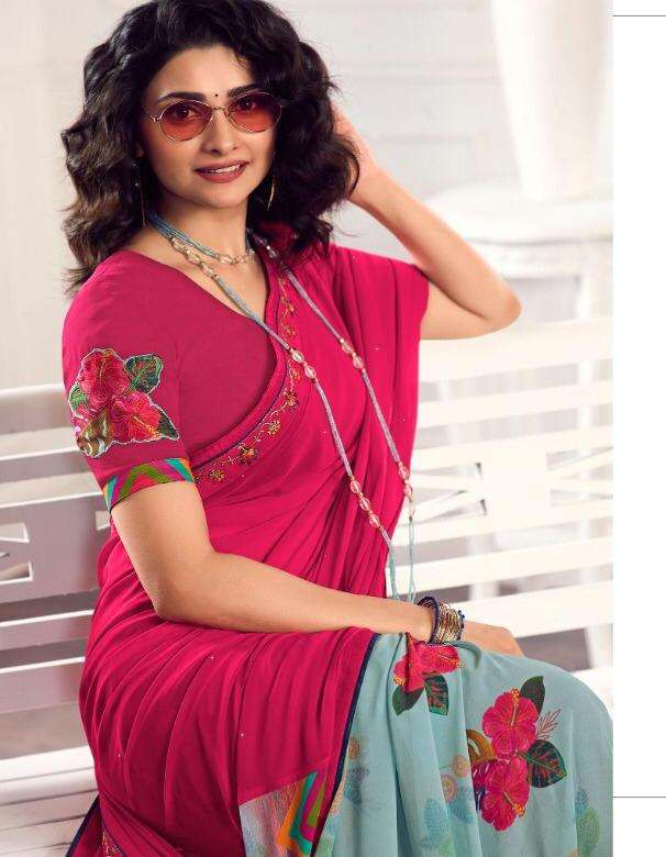 vinay starwalk 62 hit lisht half half georgette printed saris buy online