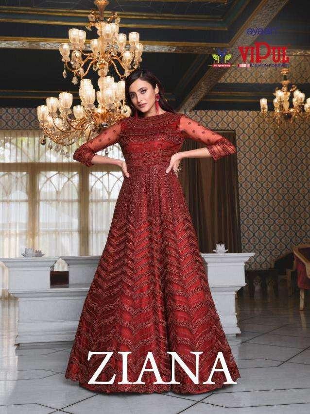 vipul ziana exclusive long wedding bridal salwar kameez