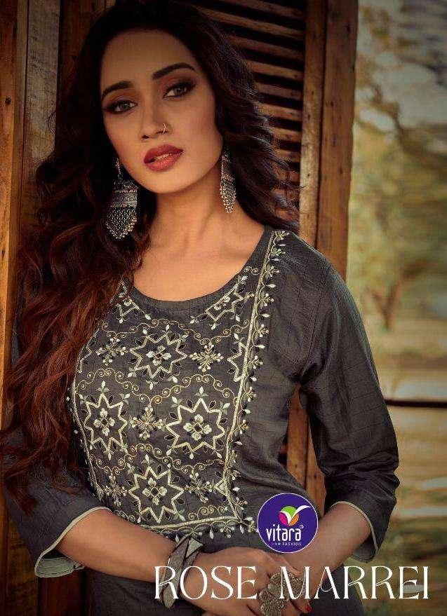 vitara rose marry fancy kurti with pallazo set fir girls women