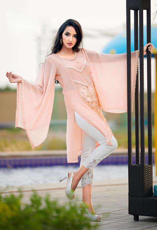 z s vol 27 by zara studio georgette designer top with cotton pant readymade collection