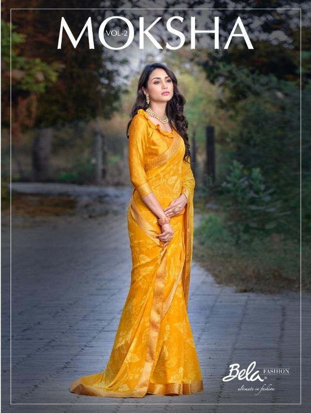 Bela Fashion Moksha Vol 2 Exclusive Georgette Printed Saree At Online Shopping
