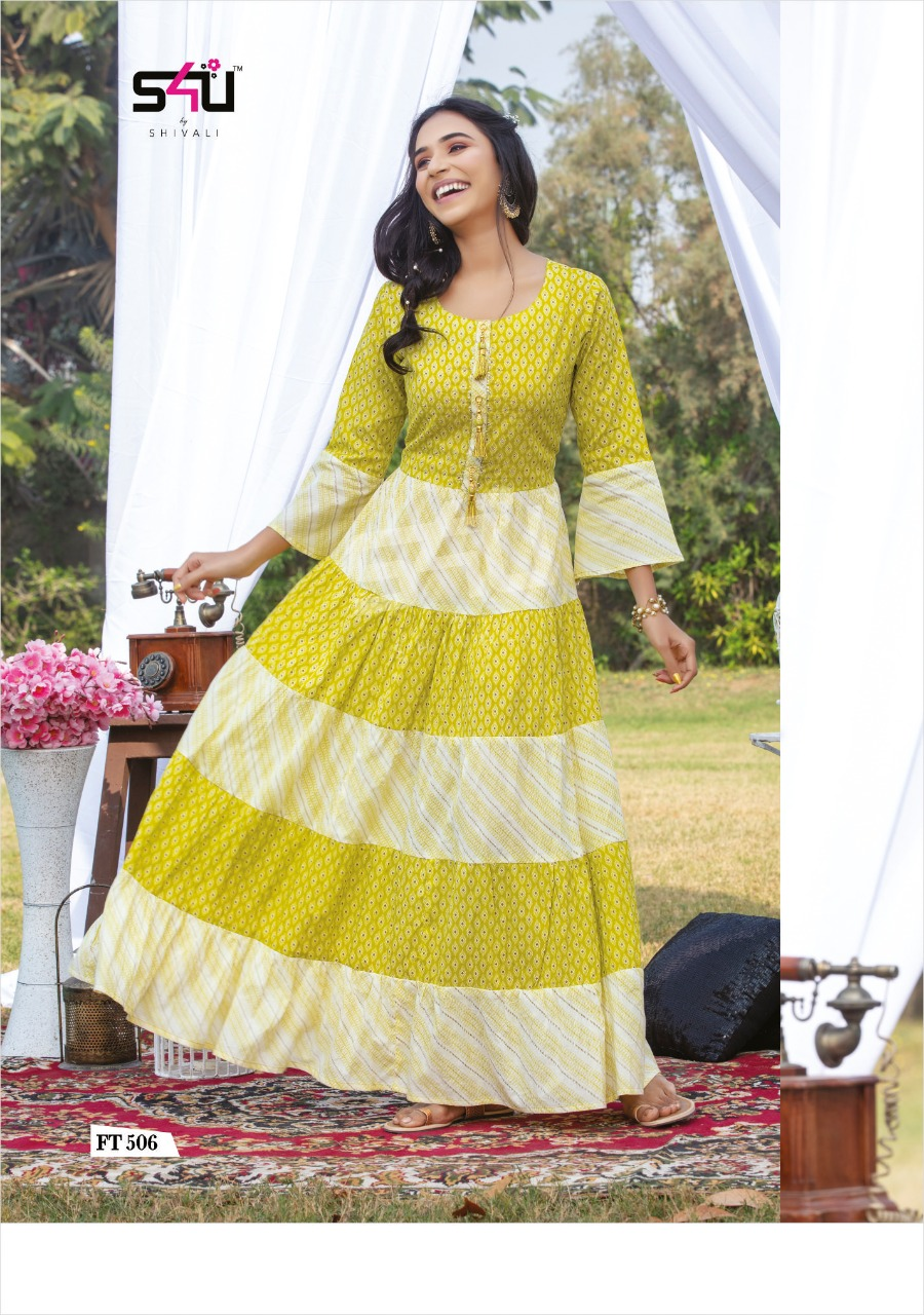 Flairy Tales Vol 5 By S4u Cotton Evening Party Wear Long Gown Collection By Shivali