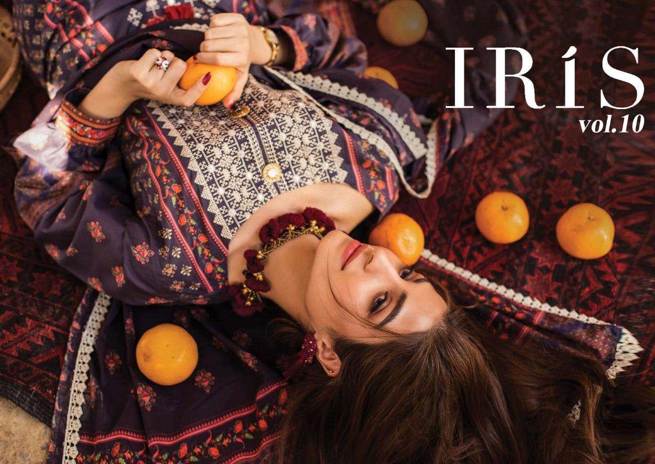 Iris Vol 10 Formal Wear Cotton Fancy Salwar Kameez