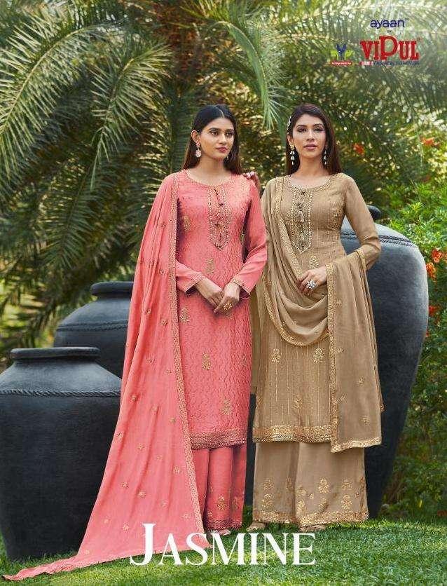 Jasmine By Vipul Fashion 4651-4656 Series Ladies Dresses Exporter