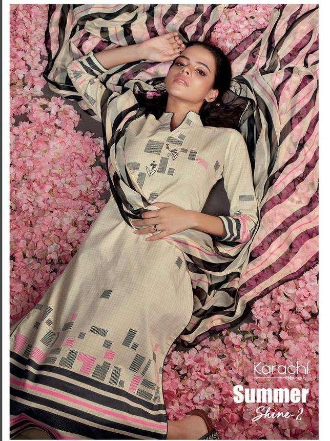 karachi prints summer shine vol 2 pure lawn printed ladies suits wholesaler