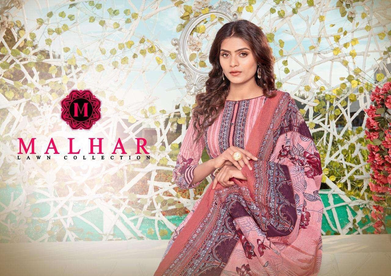 Malhar Lawn Designer Fancy Dresses Wholesaler