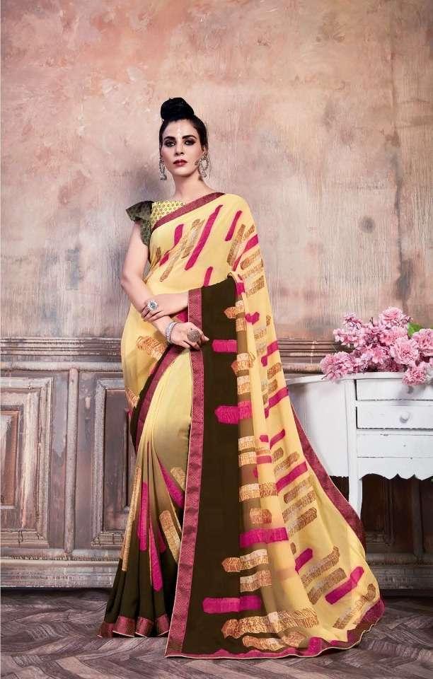 Rachna Starwalk Weightless Printed Fancy Saree