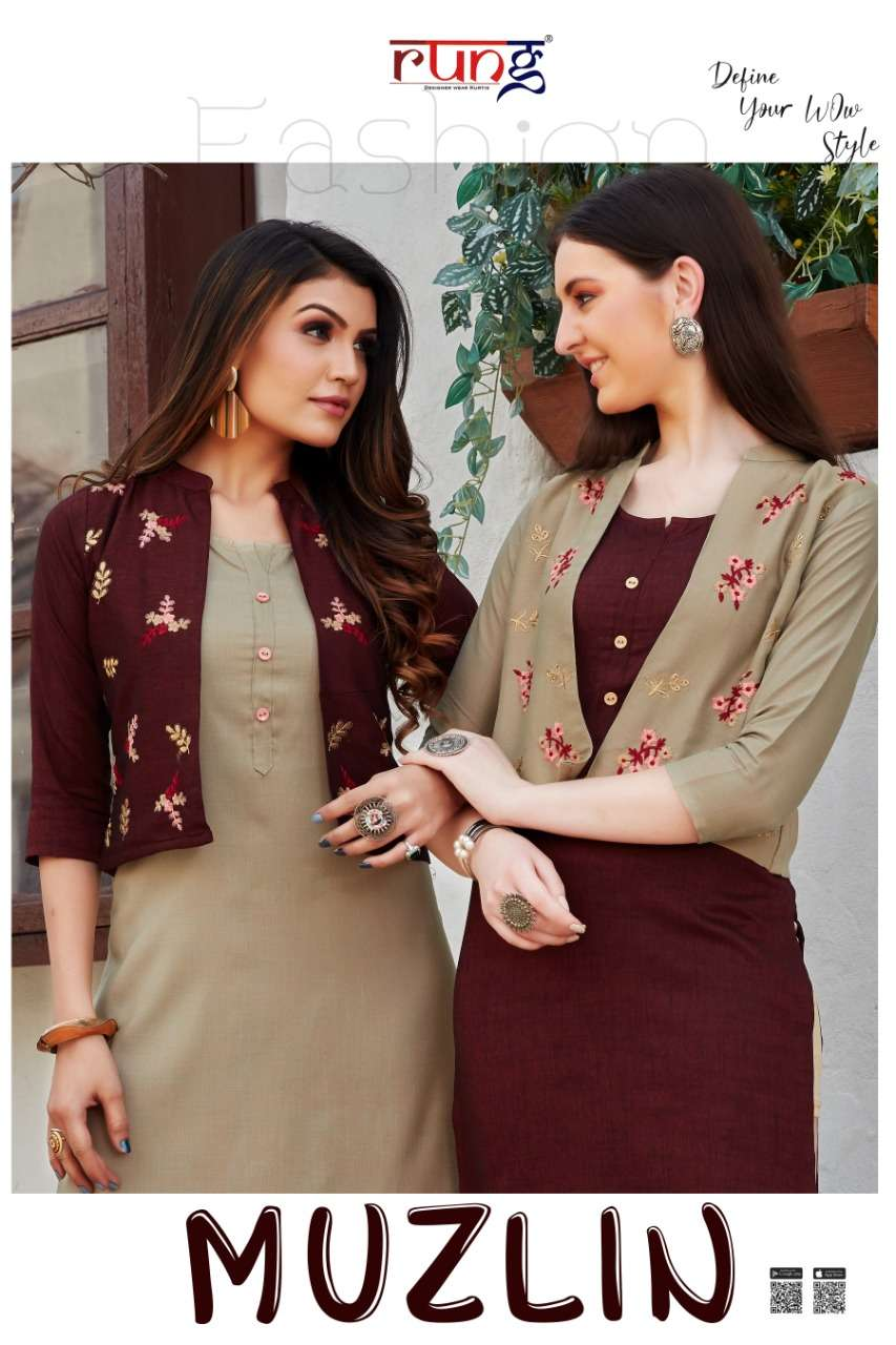 s4u present muzlin ethnic wear ladies office & home wear designer kurta collection