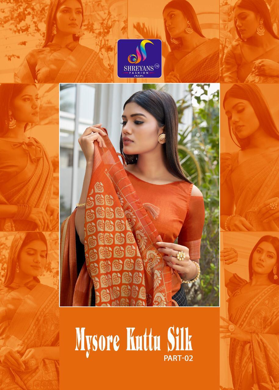 Shreyans Fashion Mysore Kuttu Silk Part 2 Fancy Silk Casual Wear Saree
