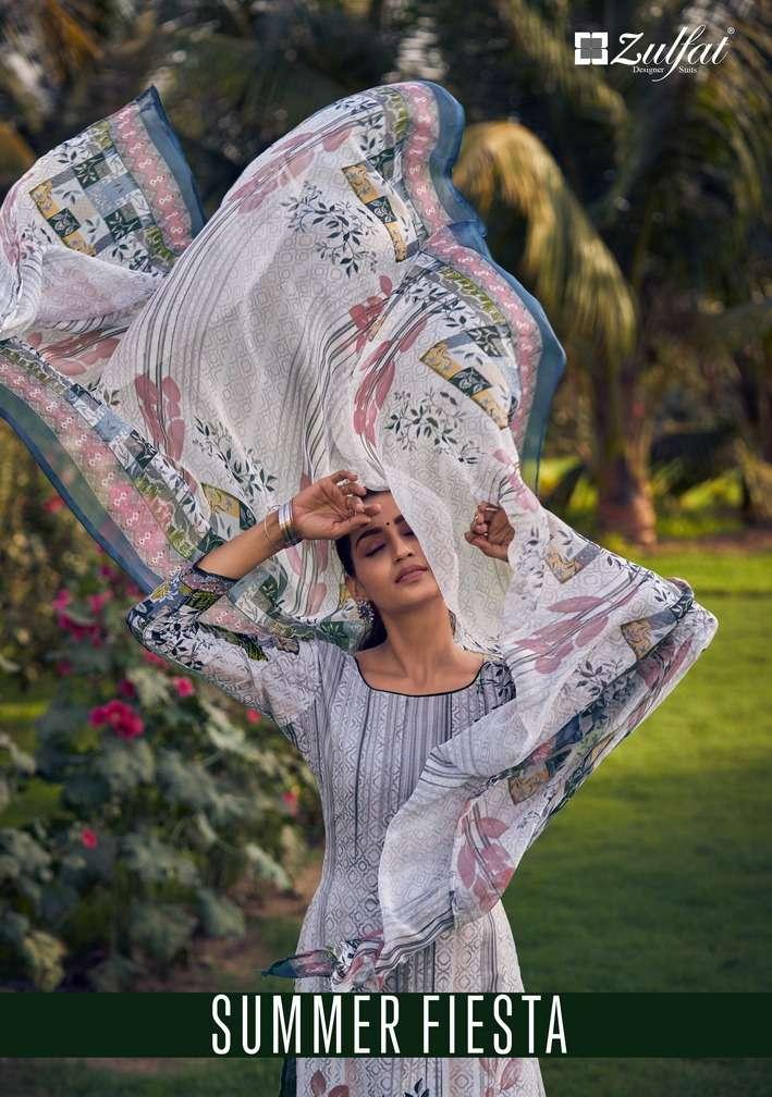 Zulfat Summer Fiesta Cotton Fancy Dress Materials
