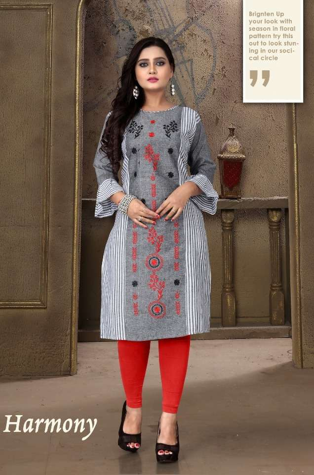 Aagya Harmony Cotton Casual Wear Kurtis
