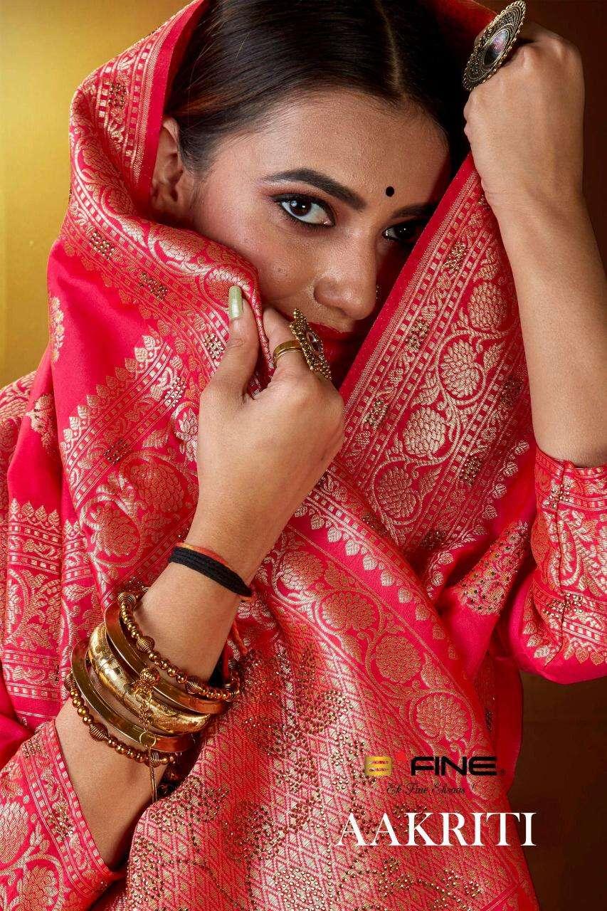 Aakriti By B Fine Silky Fancy Saree Supplier