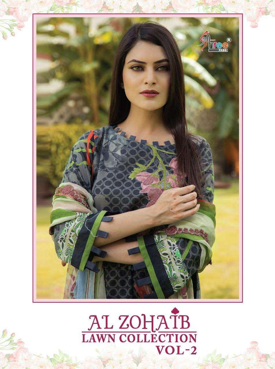Al Zohaib Lawn Vol 2 By Shree Fabs Cotton Pakistani Suits