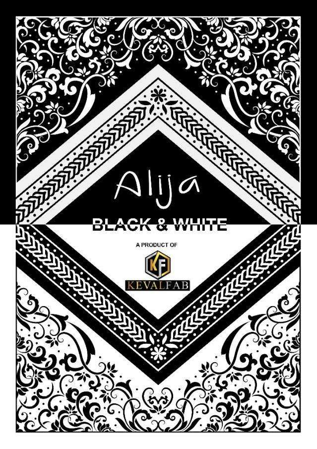 Alija Black & White By Keval Fab Cotton Printed Suits