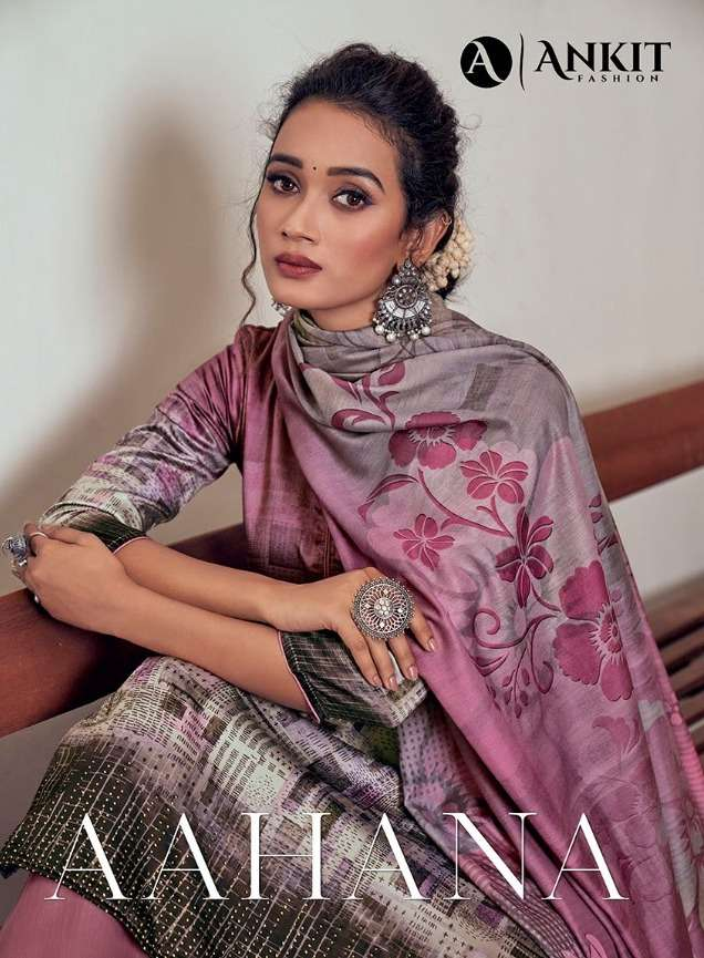 Ankit Fashion Aahana Cotton Satin Dress Materials
