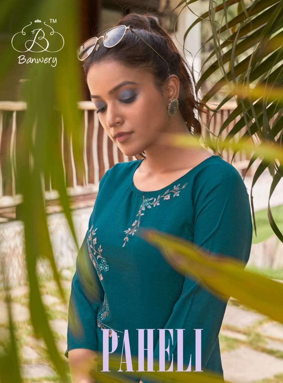 Banwery Paheli Cotton Fancy Kurtis