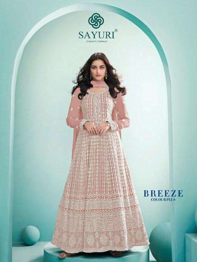 Breeze Color Plus By Sayuri Heavy Embroidery Dresses