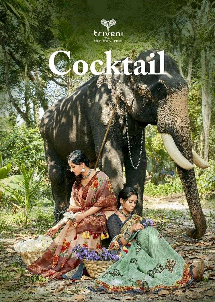 Cocktail By Triveni Cotton Linen Saris Exporter