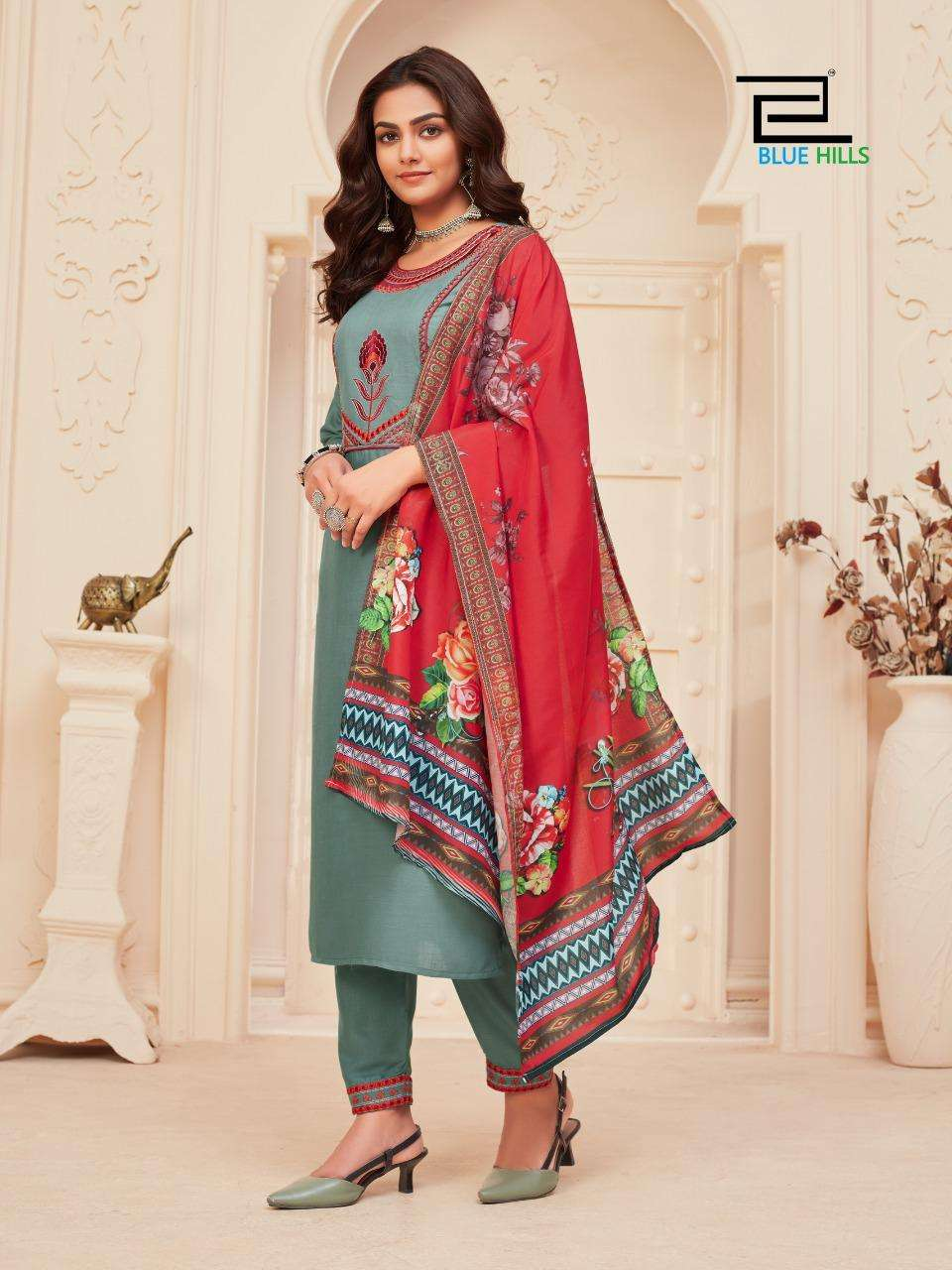 Dupatta Queen Vol 1 By Blue Hills Rayon Readymade Suits