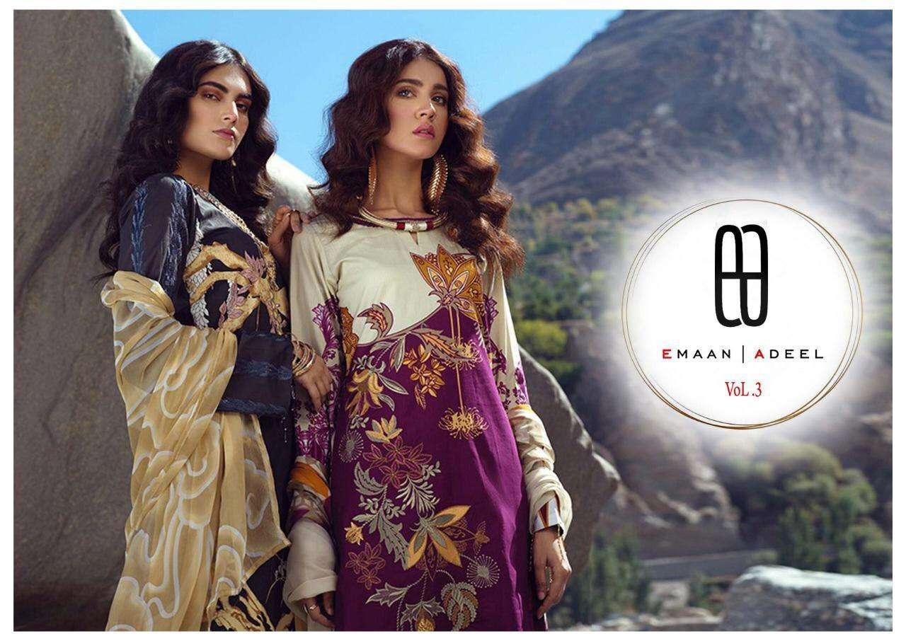 Emaan Adeel Vol 3 Lawn Printed Pakistani Dresses