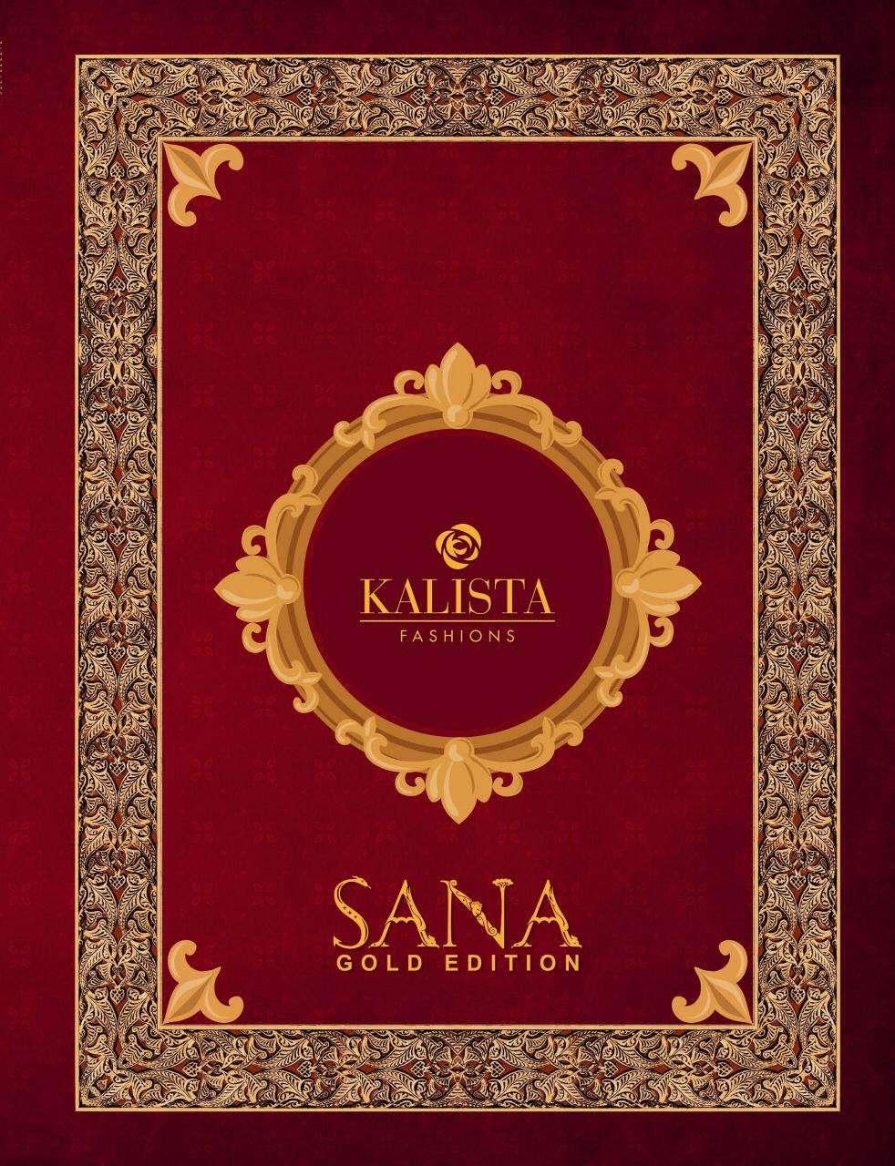 Kalista Sana Gold Edition Party Wear Wedding Sarees