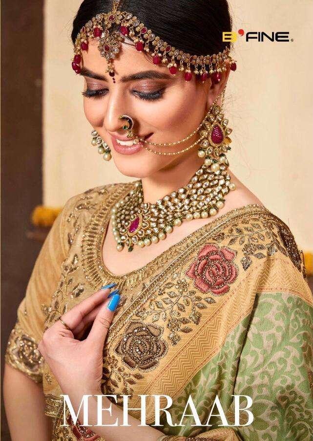 Mehraab By B Fine Silk Wedding Saree Wholesaler