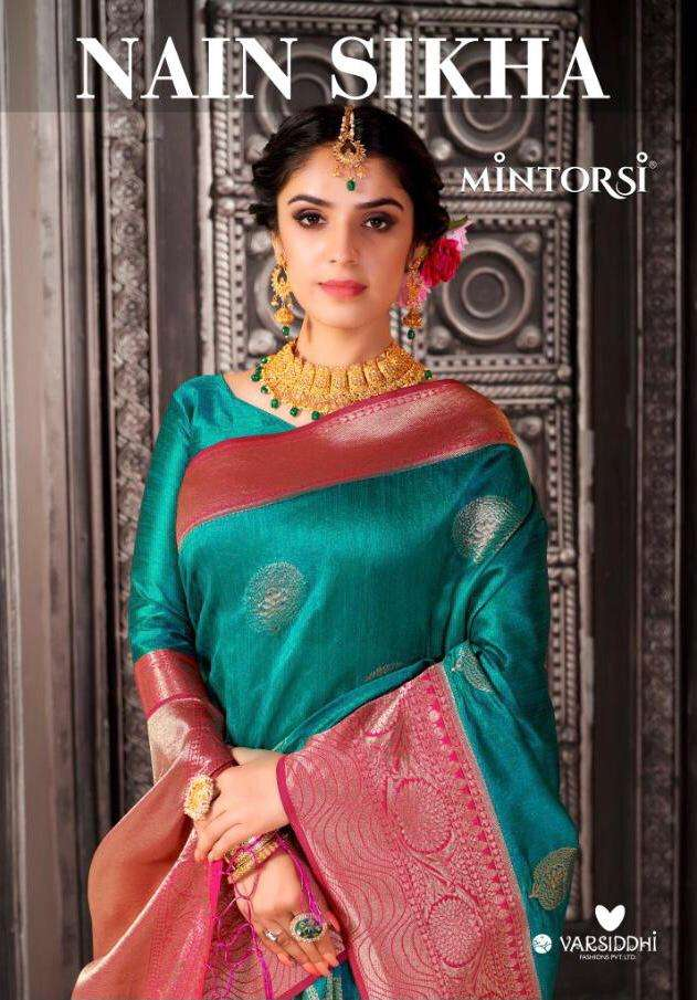 Mintorsi Nain Sikha Banarasi Silk Fancy Sarees