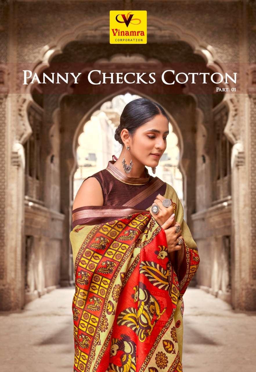 Panny Checks Cotton Vol 1 By Vinamra Saree Authorized Dealer