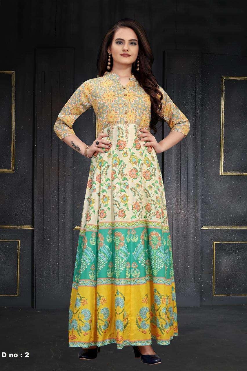 Peafowl Vol 68 Maslin Silk Designer Fancy Gown